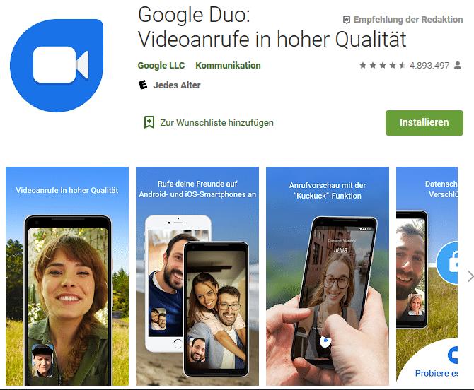 Download der Google Duo App