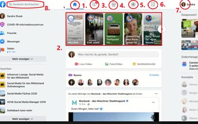 Neues Design in Facebook - Übersicht Funktionen
