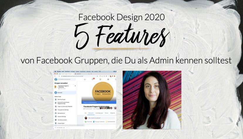 Hier zeigt Dir Sandra Staub die Updates des Facebook Designs 2020 für Deine Facebook Gruppen